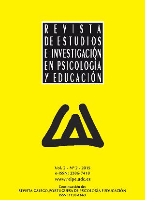 Revista de Estudios e Investigación en Psicología y Educación, Volumen 2, Número 2.