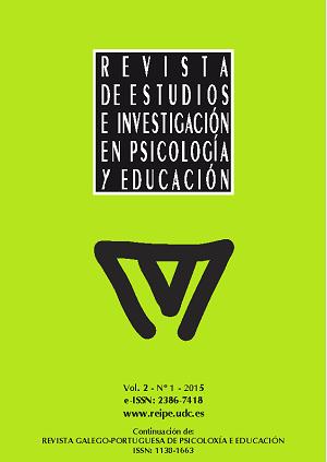 Revista de Estudios e Investigación en Psicología y Educación, Volumen 2, Número 1.