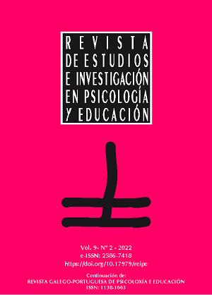 Revista de Estudios e Investigación en Psicología y Educación volumen 7 número 2
