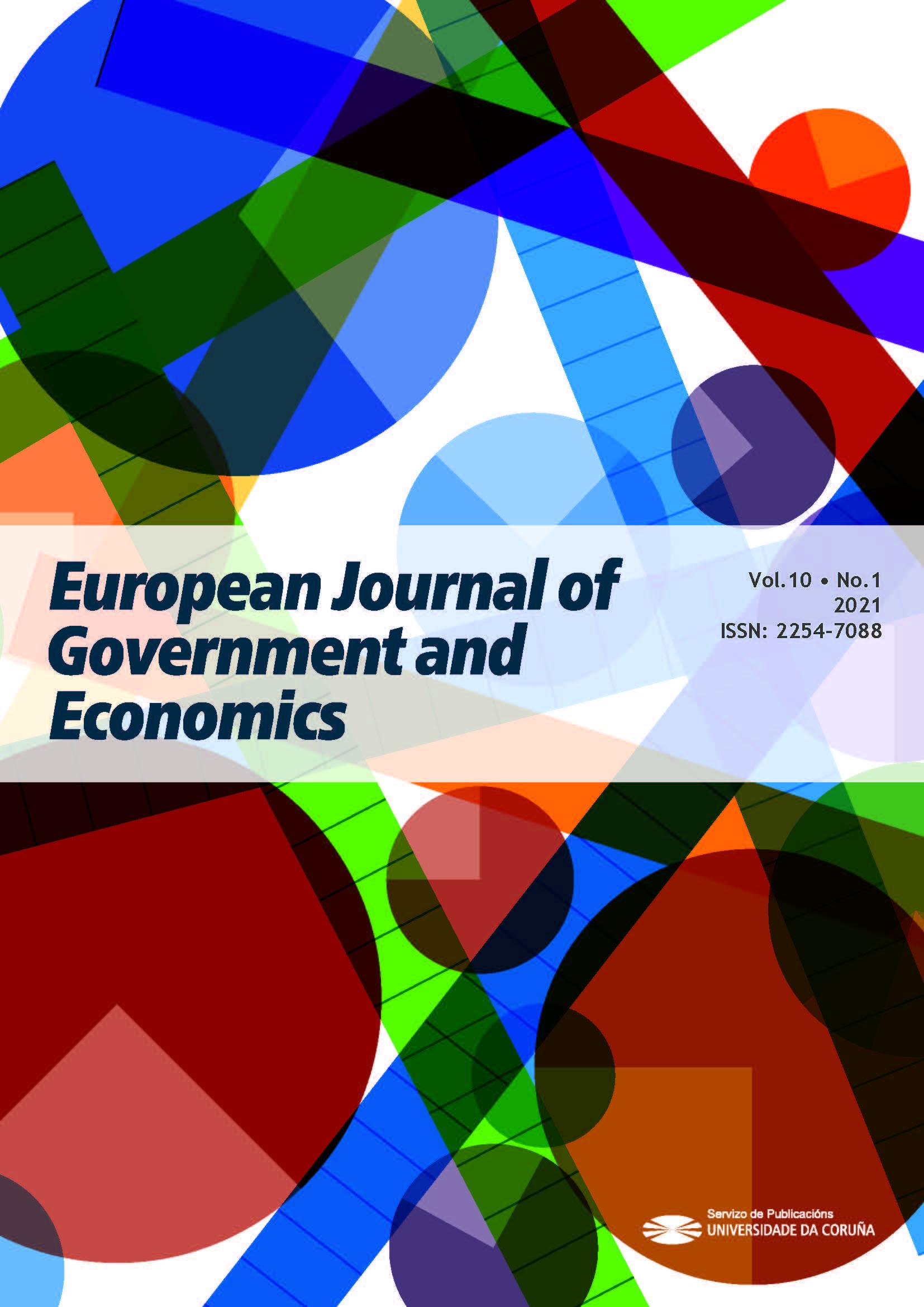 EJGE front page. Volume 10, number 1. 2021