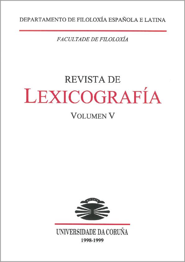 Portada de la Revista de Lexicografía Volumen 5