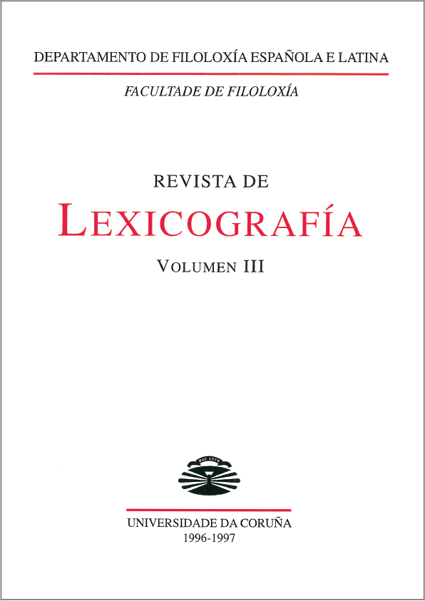 Portada de la Revista de Lexicografía 3