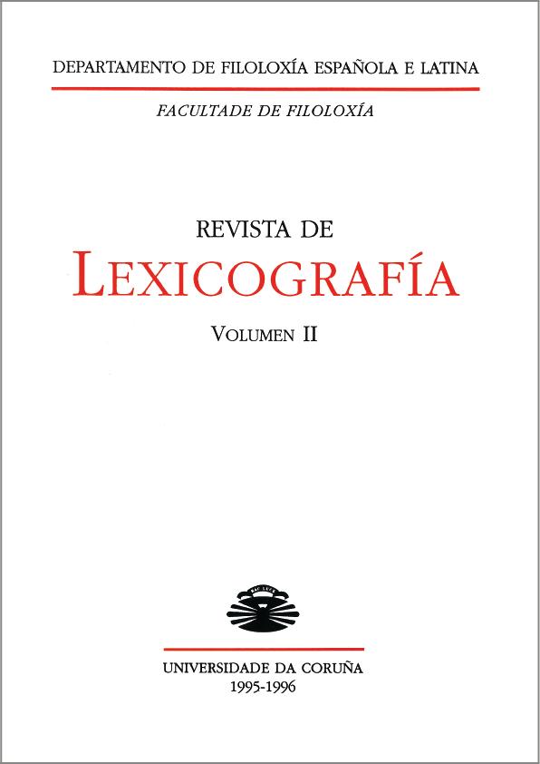 Portada de la Revista de Lexicografía 2