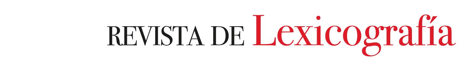 Revista de Lexicografía